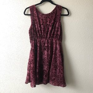 Free People Floral Brocade Fit & Flair Dress Sz 4